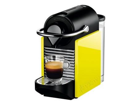 Желтая кофемашина